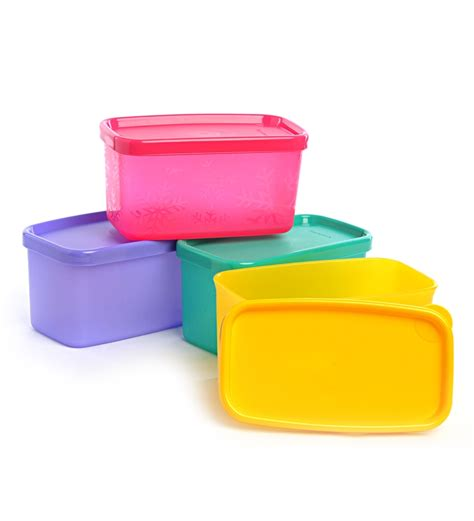 Tupperware Dining Set tupperware cool square half set of 4 by tupperware