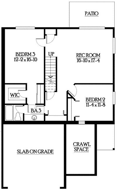 narrow lot house plans with basement narrow lot home plan with lower level 23390jd