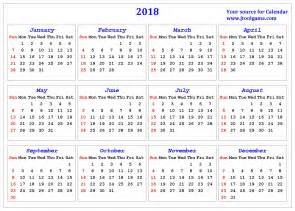 Calendar 2018 By Week Number 2018 Calendar Printable Calendar 2018 Calendar In
