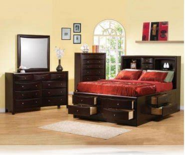 king storage bedroom sets phoenix ke 5 pc king storage bedroom set bedroom