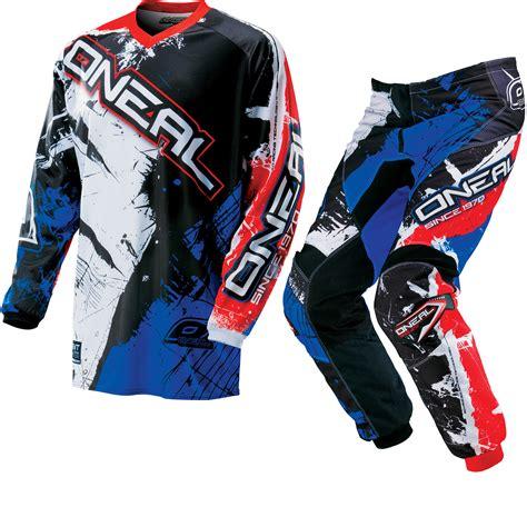 junior motocross gear oneal element 2016 shocker motocross kit atv