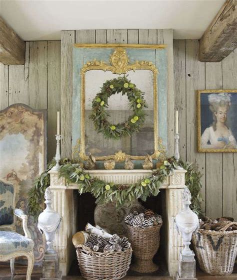 veranda magazine shabbychic pinterest 36 ways to decorate the christmas fireplace mantel hello