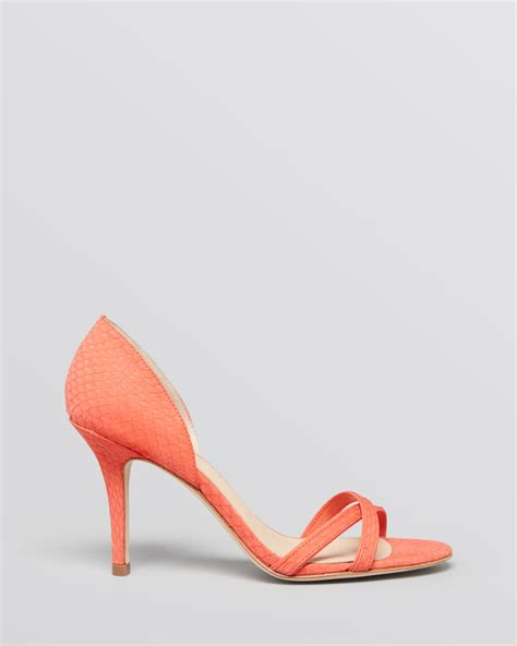 pink high heel sandals aerin dorsay sandals cocobay high heel in pink coral lyst