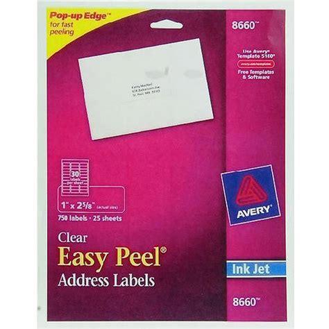 inkjet labels template avery address inkjet label clear 750ct walmart