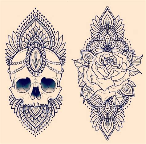 mandala rose tattoo skull and mandala how to mandala