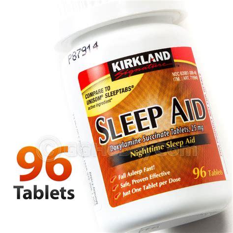 sleep aid kirkland nighttime sleep aid 96 pills tablets bottle