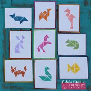 craftaholics anonymous 174 diy tangrams art