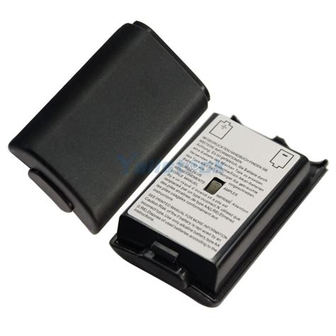 2pcs new battery pack cover shell for xbox 360 wireless controller black ebay