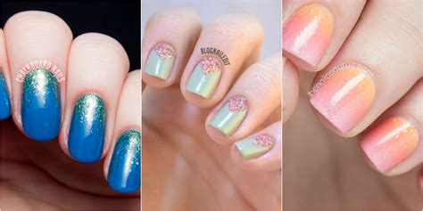 Glitter Nail by 24 Glitter Nail Ideas Tutorials For Glitter Nail Designs