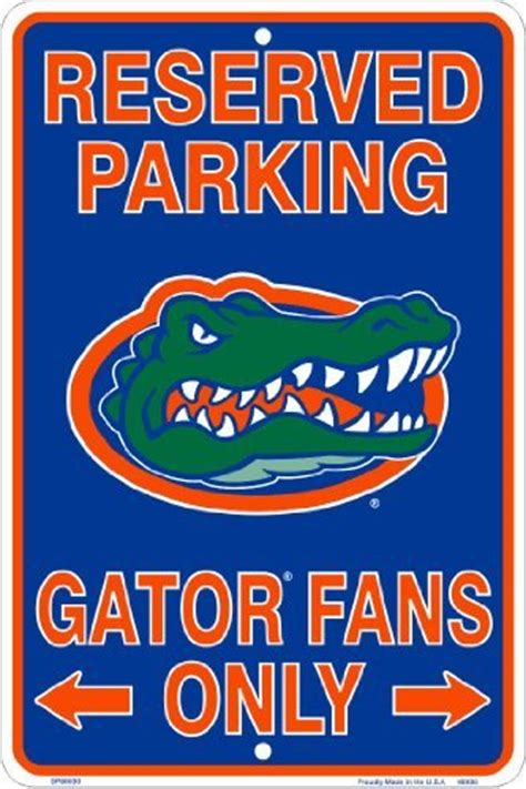 gifts for florida gator fans galleon florida gators fans reserved parking sign metal