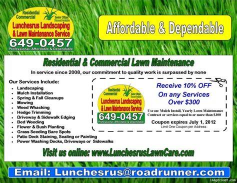 landscaping flyers templates lawn care flyers new lawn care business flyer template