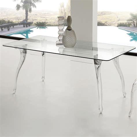 tavolo in vetro temperato tavolo da pranzo design moderno con piano in vetro