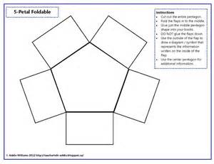 foldable templates foldable five petal foldable 3rd grade sc history