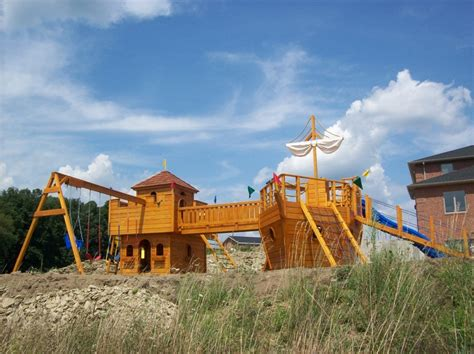 ship swing set a ship and castle swing set we did the kids will be