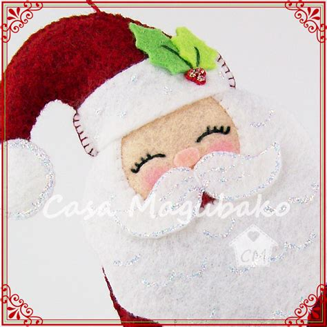 pattern for felt santa santa ornament sewing tutorial diy hand stitched