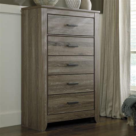 ashley zelen chest of drawers ashley signature design zelen b248 46 rustic 5 drawer