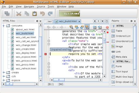 Tutorial Web Editor | netbeans tutorial de in 237 cio r 225 pido da plataforma netbeans 6 0