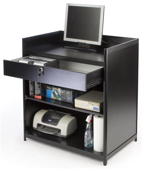 How To Open Register Drawer by Register Stand Locking Drawer With Shelves