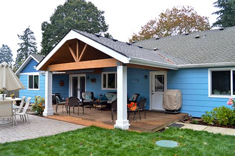 Gable and Shed Patio Cover in Albany, Oregon : TnT Builders