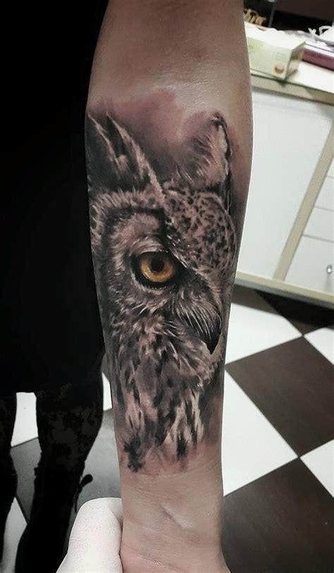 owl tattoo es collection of 25 wonderful grey owl tattoo on forearm