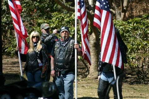 on a boat ride respect the patriot guard riders show respect for the fallen
