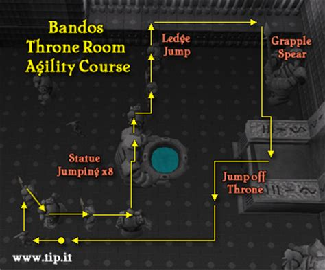 bandos throne room agility agility guide pages tip it runescape help the original runescape help site