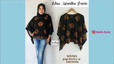 Blouse Max Atasan Baju Wanita batik modern atasan blus batik modern trend 2018 model