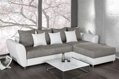 canapé angle gris blanc canap 195 169 gris et blanc