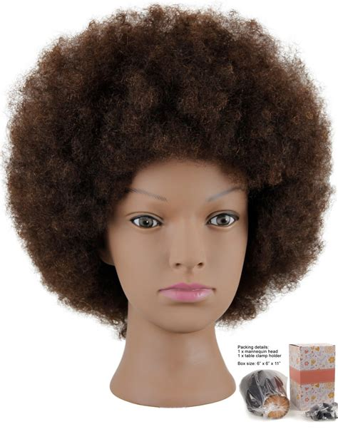 Hair Mannequin Heads Real Hair by Hairealm Afro Mannequin 100 Real Hair