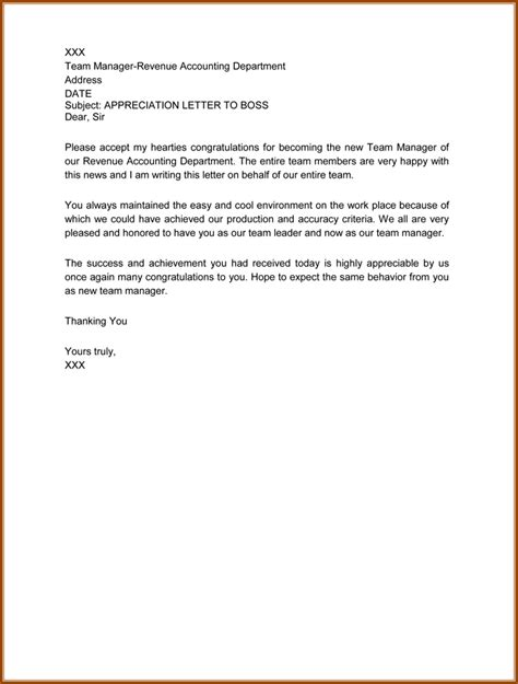 letter of appreciation to boss about employee livecareer