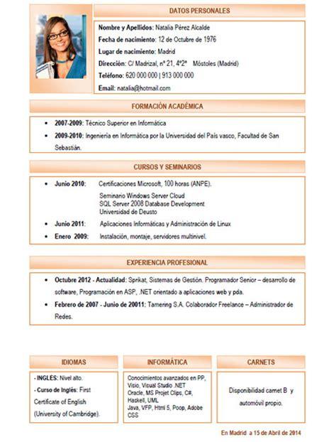 Plantilla De Curriculum Por Competencias Elaboraci 243 N Curriculum Cl 225 Sico Plantillas De Cv Para Enviar A Empresas Cvexpres