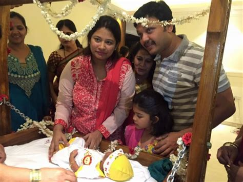 actor ganesh house in rr nagar golden star ganesh son vihaan s naming ceremony photos