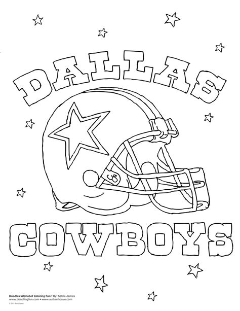 Cowboys Football Coloring Page | dallas cowboys coloring pages for kids az coloring pages