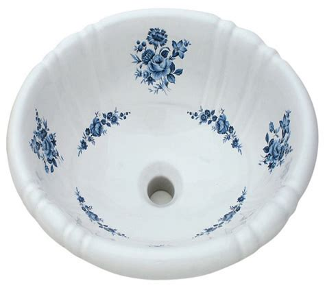 hand painted bathroom sinks bathroom amaranth hand painted sink blue traditional