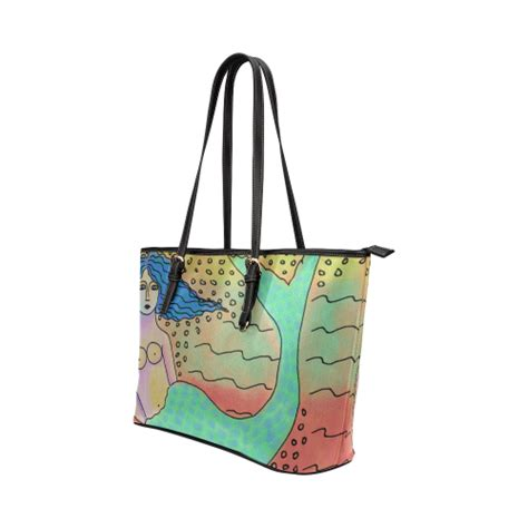 Handbag Mermaid beautiful mermaid abstract handbag purse shoulder bag