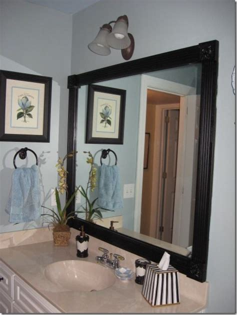 frames for mirrors in bathrooms 105 best images about powder rooms on