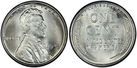 1943 1c regular strike pcgs coinfacts