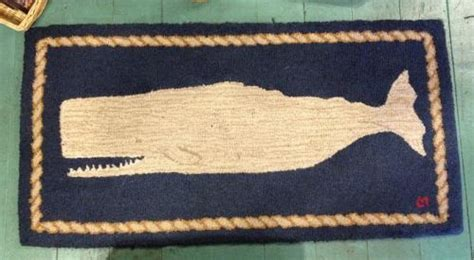 Small White Rug by Small Whale Rug White On Navy Nantucket Book Partners