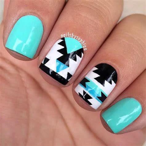 aztec pattern nail art 58 amazing nail designs for short nails pictures