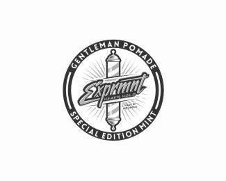 Pomade Xprmnt logopond logo brand identity inspiration xprmnt