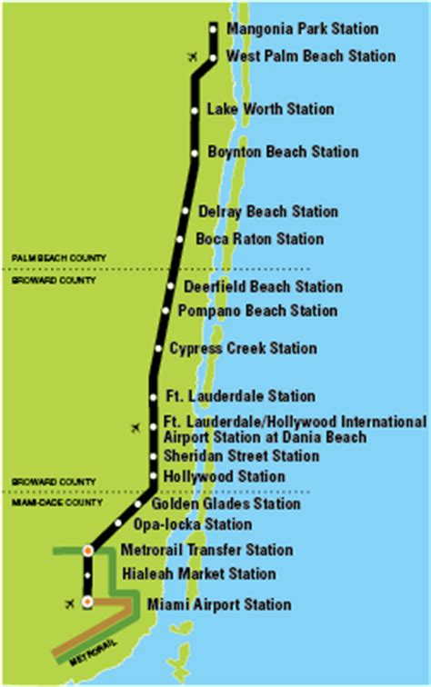 tri rail map tri rail south florida regional transportation authority