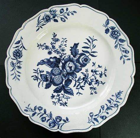 blue and white pattern plates first period worcester blue and white plate transfer