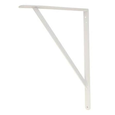 everbilt 18 in x 16 in white heavy duty shelf bracket