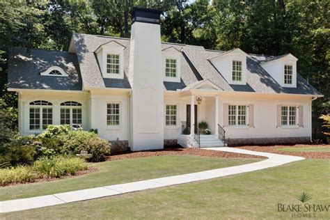 Floor Plans For A Ranch Style Home by Brookhaven Cottage Renovation Blake Shaw Homes Atlanta