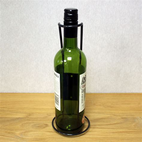 Single Wine Bottle Holder single bottle display wine holder rack black metal