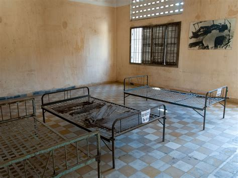 hard bed tuol sleng genocide museum phnom penh cambodia sonya