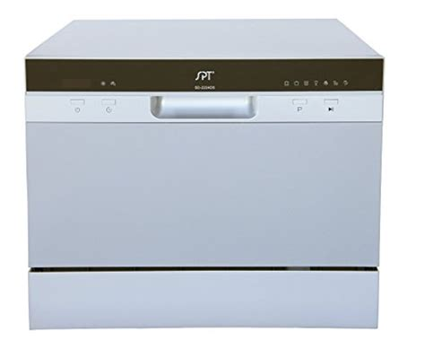 spt sd 2224ds countertop dishwasher with delay start led