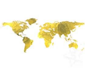 gold foil world map print world map instant by 5starprintables