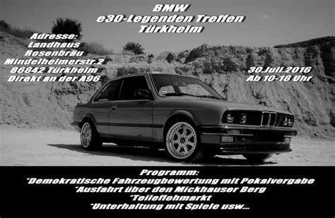 Bmw 1er Treffen 2018 by Das 5te E30 Legenden Treffen T 252 Rkheim Fotos Treffen
