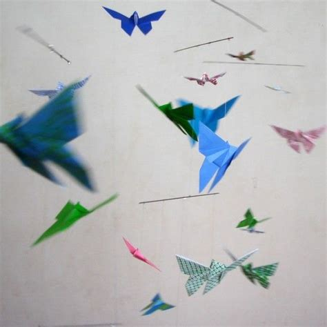 Origami Butterfly Mobile - 17 best images about origami transformation on